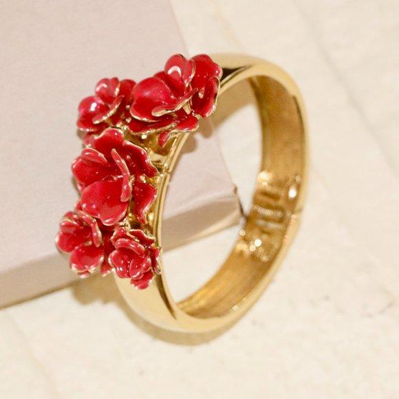 Talbots Flower Embellished Bracelet